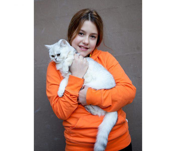 #Mädchen mit Katze